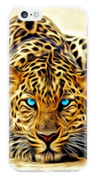 Чехол-накладка на Apple iPhone 5/5S, силикон, colorfull, animals leopard