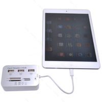 Картридер OTG для iPad, iPhone, Camera Connection Kit USB Hub/ SD(HC)/ MicroSD