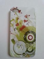 Чехол-накладка на Apple iPhone 4/4S, пластик, painted green