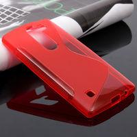 Чехол-накладка LG Spirit (H422), силикон, S-line, красный
