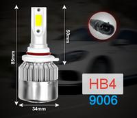 Лампы LED, головного освещения, С6, HB4, 36W, 5000K, 2 шт