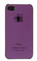 Чехол-накладка на Apple iPhone 4/4S, пластик, хром, глянцевый, фиолетовый