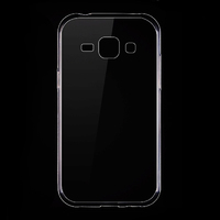Чехол-накладка на Samsung J1 (J100) силикон, ультратонкий, прозрачный