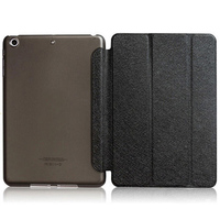 Чехол Smart-cover для Apple iPad mini 4, полиуретан, пластик, черный
