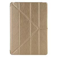 Чехол Smart-cover для Apple iPad mini 1,2,3, кожа, трансформер, золотистый