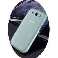 Чехол-накладка на Samsung S3 пластик, 0,3мм, зеленый