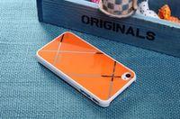 Чехол-накладка на Apple iPhone 4/4S, пластик, Sokad, оранжевый