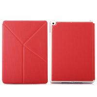Чехол Smart-cover для Apple Ipad Air 2, полиуретан, трансформер, красный