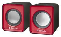 Активные колонки USB Defender SPK 22, 2x2.5W, красный