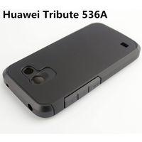 Чехол-накладка для Huawei Tribute (536A), пластик, противоударный, черный