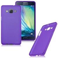 Чехол-накладка на Samsung A3 силикон, фиолетовый