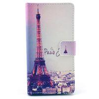 Чехол-книжка на Sony Xperia M2 кожа, Paris