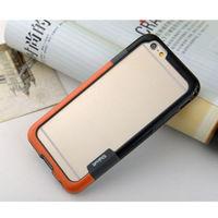 Бампер на Apple iPhone 5/5S, силикон, Walnutt, черно-оранжевый