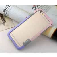 Бампер на Apple iPhone 5/5S, силикон, Walnutt, фиолетово-розовый