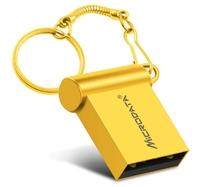 Память USB 2.0 Flash, 16GB, MicroDrive, мини, золотистый