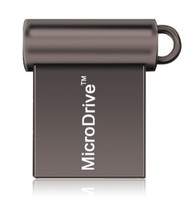 Память USB 2.0 Flash, 16GB, MicroDrive, мини, черный