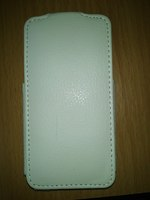 Флип-кейс на Apple iPhone 4/4S, кожа, белый
