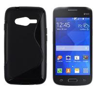 Чехол-накладка на Samsung Ace4 Lite/Neo (G313/G318) силикон, S-line, черный