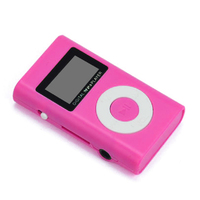 MP3-плеер с дисплеем, Binmer, microSD, (без кабеля, без наушников), розовый
