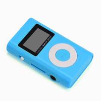 MP3-плеер с дисплеем, Binmer, microSD, (без кабеля, без наушников), голубой