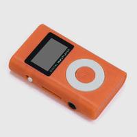 MP3-плеер с дисплеем, Binmer, microSD, (без кабеля, без наушников), оранжевый