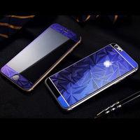 Цветное защитное стекло для Apple iPhone 4/4S комплект, 4D, синий