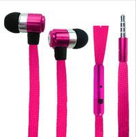 Гарнитура проводная, 3,5мм, Noname, шнурок, розовый