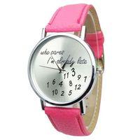 Часы наручные Geneva, ц.белый, р.розовый, кожа