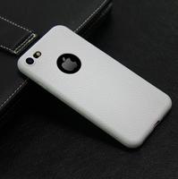 Чехол-накладка на Apple iPhone 7/8, силикон, под кожу, с вырезом, белый
