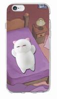 Чехол-накладка на Apple iPhone 7/8/SE2, силикон, 3D, игрушка кот, рис 3