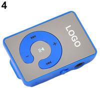 MP3-плеер, клипса, пластик, microSD, синий
