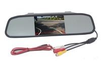 """Монитор BYNCG, зеркало заднего вида, 5.0"""", 2 камеры, черный"""