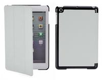 Чехол Smart-cover для Apple iPad mini 1,2,3, полиуретан, текстурированный, черно-серый