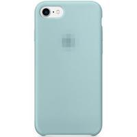 Чехол-накладка на Apple iPhone 7/8 Plus, original design, микрофибра, с лого, аквамарин