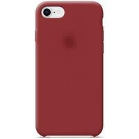 Чехол-накладка на Apple iPhone 7/8 Plus, original design, микрофибра, с лого, бордовый