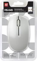 Мышь беспроводная, Defender MS-045, оптическая, 3кн, матовая, белый