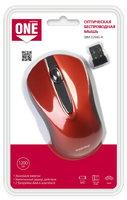 Мышь беспроводная, Smart Buy 329AG-R ONE, оптическая, 3кн, красный