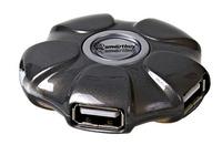 USB-хаб 2.0, Smart Buy UFO SBHA-143-K, 4 порта, черный