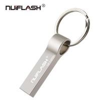 Память USB 2.0 Flash, 32GB, Nuiflash, металл, с кольцом, серебристый