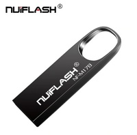 Память USB 2.0 Flash, 32GB, Nuiflash, металл, карабин 2, черный