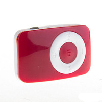 MP3-плеер, клипса, пластик, microSD, Glossar, красный