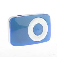 MP3-плеер, клипса, пластик, microSD, Glossar, голубой