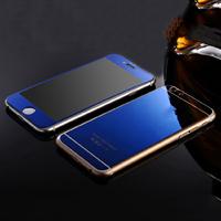 Цветное защитное стекло для Apple iPhone 6/6S комплект, синий