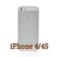 Чехол-накладка на Apple iPhone 4/4S, силикон, пластик, бампер, фиолетовый