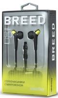 Гарнитура проводная, 3,5мм, Smart Buy BREED SBH-9010, вакуумная, 1.2 м, черный, зеленый