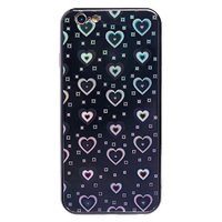 Чехол-накладка на Apple iPhone 6/6S Plus, силикон, голограмма, сердца, черный