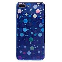 Чехол-накладка на Apple iPhone 7/8 Plus, силикон, голограмма, круги, синий
