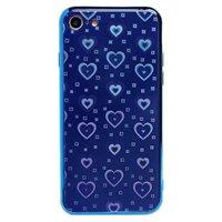 Чехол-накладка на Apple iPhone 7/8/SE2, силикон, голограмма, сердца, синий