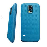 Чехол-накладка на Samsung S5 силикон, перфорация, синий