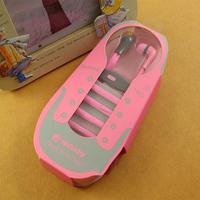 Гарнитура проводная, 3,5мм, JenJoy, Running Man, IN-X02,  шнурок, розовый